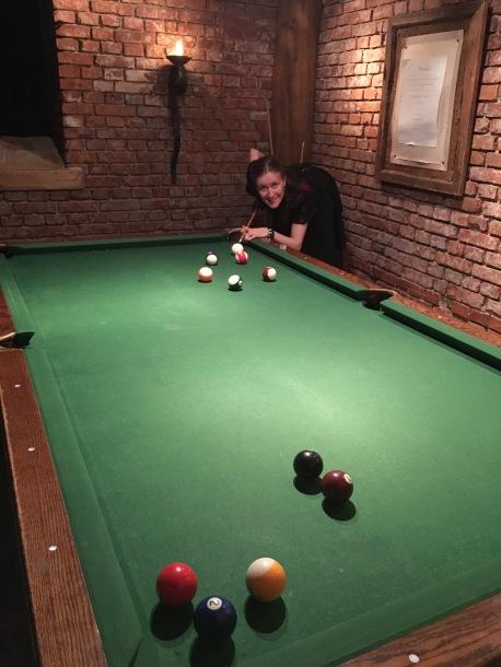 Bildet tatt på vårt besøk her i 2016, men billiardbordet er det samme som i 2014 ;)