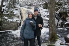 Koselig lokal natur med elver og fossefall