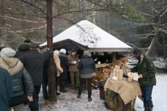Skogsgläntan med egen liten lavvo med servering av kaffe, her fikk vi også servert nydelig kjøttsuppe!